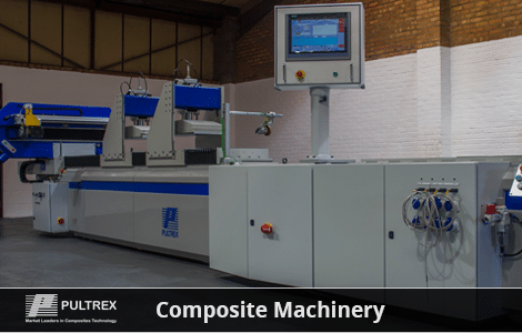 Composite machinery inside a warehouse